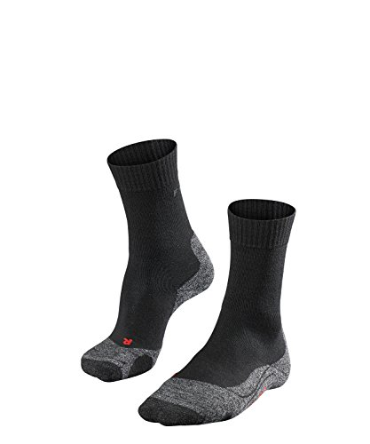 FALKE Damen Wandersocken TK2 - 1 er Pack, Schwarz (Black-Mix 3010), 39-40