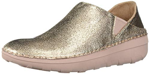 FitFlop Women's Superloafer Glitzy Clog, Rose Gold, 9 M US