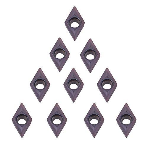 10er Diamantform CNC Hartmetall Einsatzschneider, DCMT0702 EM YBC205, Fräseinsätze Drehwerkzeuge mit Box