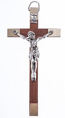 Crucifix Christ sur la Croix INRI 18/cm Debout Croix en Bois Crucifix en Bois Debout en Bois