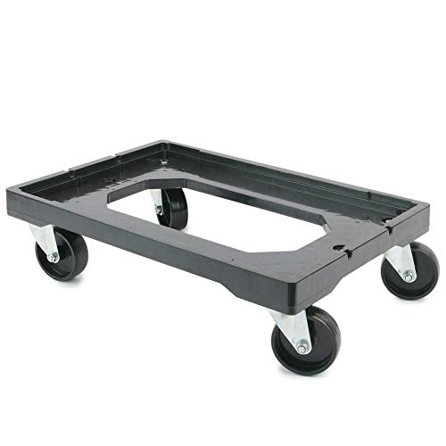 PrimeMatik - Plataforma con Ruedas para Transporte de Cajas eurobox 60 x 40 cm