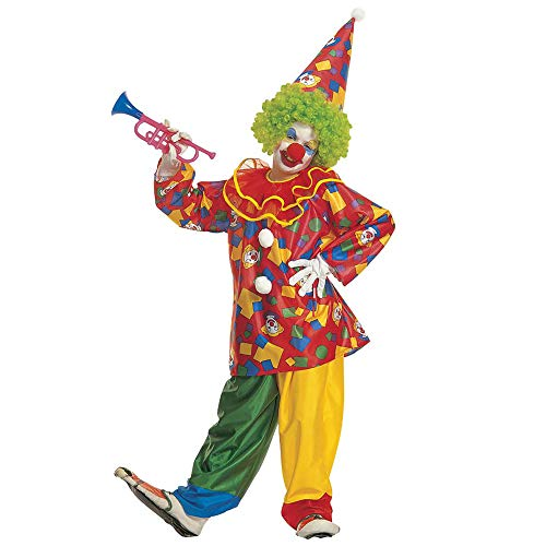 Widmann 38586 - Kinderkostüm Funny Clown, Coat mit Kragen, Hose und Hut, Spaßmacher, Zirkus Clown, Karneval, Mottoparty