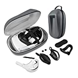ZBRGX Oculus Quest 2 用(6-IN-1)アクセサリ, EVAスーツケース、 ヘッドバンド、 マスク、 ハンドルカバー、 ジョイスティックカバー、 レンズキャップ、 軽量ポータブル保護トラベル収納ボックス(グレー)