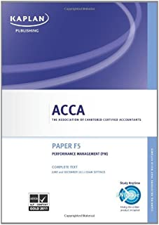 ACCA F5 Performance Management Pm - Complete Text 2011