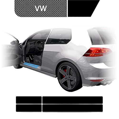 BLACKSHELL Einstiegsleisten Schutzfolie + Premium Rakel für Golf 4 Limo 1J 5-Türer Matt Schwarz - SET für alle Einstiege mit Anleitung - passgenaue Lackschutzfolie, Auto Schutzfolie