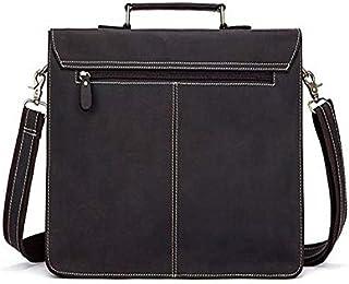 FYXKGLan Men's Genuine Leather Retro Mad Horse Leather One-Shoulder Men's Bag (Color : Deep Coffee)