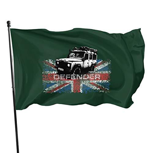 Generic Marken Distressed Land Rover Defender Illustration Flagge Banner Flaggen, 91 x 152 cm