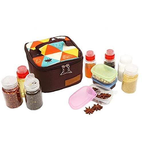 Tuimiyisou 10 pcs/Set condimentar el Conjunto de Botellas Camping, Senderismo, BBQ