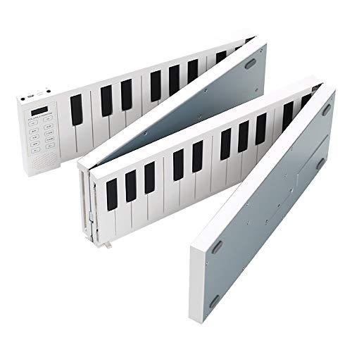 Leepesx Faltbares Klavier Digitales Klavier Tragbares elektronisches Keyboard-Klavier für Klavierstudenten-Musikinstrument