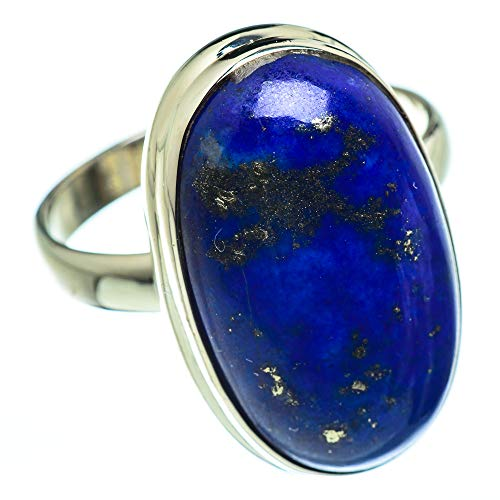 Ana Silver Co Large Lapis Lazuli Ring Size Z 1/2 (925 Sterling Silver)