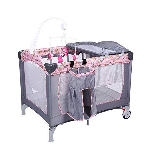 BCB Pliable Portable Multifonction Lit de Voyage pour bébé, lit d'enfant Play Pen Pen Pen Entry Entry/Bag & Net
