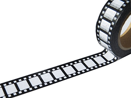 Washi-Klebeband, Design: Retro-Kamerafilm, 15 mm breite 10-m-Rolle
