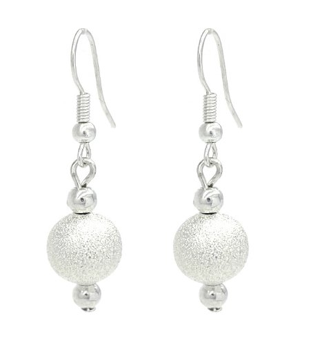 Einfach und elegant Silber-Kugelschreiber Sternenstaub-Ohrringe hängend