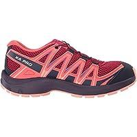 Salomon XA Pro 3D J, Zapatillas de Trail Running Unisex Niños, Rojo/Naranja (Cerise/Dubarry/Peach Amber), 35 EU