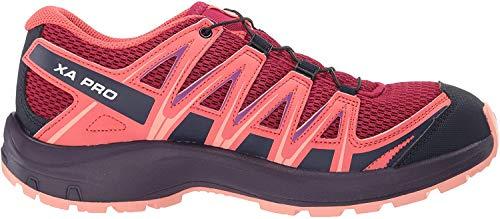 Salomon XA Pro 3D J, Zapatillas de Trail Running Unisex Niños, Rojo/Naranja (Cerise/Dubarry/Peach Amber), 37 EU