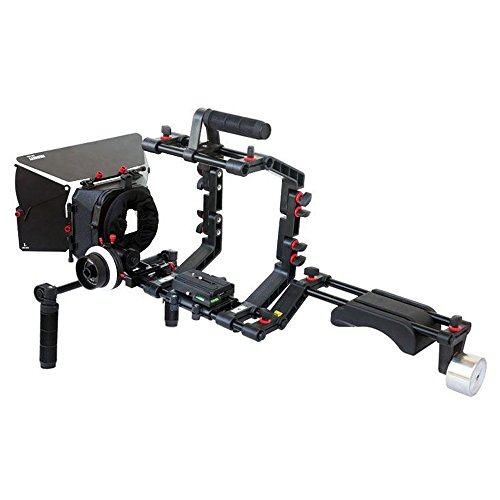 FILMCITY DSLR Camera Cage Shoulder Mount Rig Kit (FC-03) with Follow Focus & Matte Box | Shoulder Stabilizer Support for Video DV Camcorder HD DSLR | Best Affordable Kit