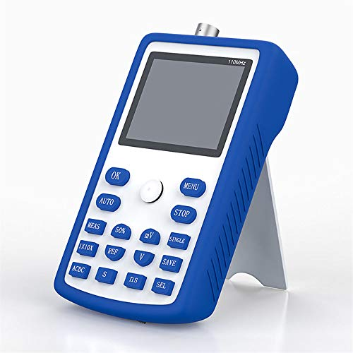 KKTECT Osciloscopio portátil 2,4 pulgadas 500 MS/s frecuencia de muestreo 110 MHz Kit de osciloscopio portátil de mano Osciloscopio digital de mano IPS, compatible con memoria de forma de onda