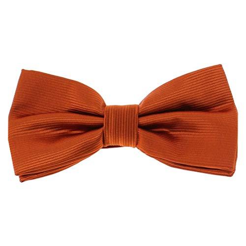 Clj Charles Le Jeune. Noeud papillon noué. CHARLES, Microfibre. Orange, Uni.