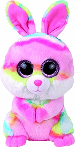 TY 37258 Lollipop, Hase pink/farbig 24cm, mit Glitzeraugen, Beanie Boo's, Ostern limitiert