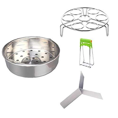 Steamer Basket Rack Set Vegetable Steamer and Steam Egg Rack for Instant Pot Accessories Pressure Cooker Kitchen Tools