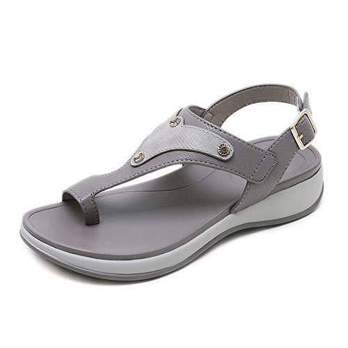 Sommer Damen Sandalen Urlaub Strand Meer Dicke Untere Schnalle Große Clip Füße Schuhe