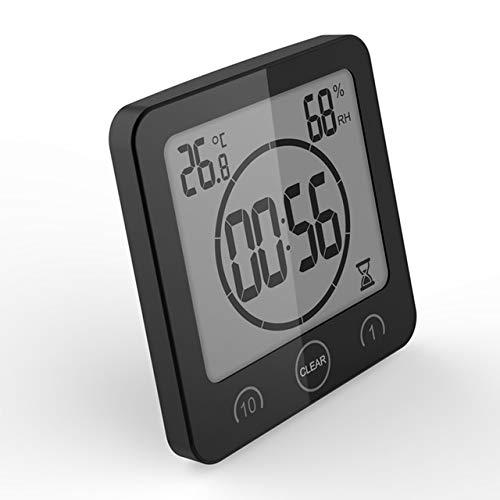 Wasserdichte LCD Digital Wanduhr Dusche Saug Wandständer Alarm Timer Temperatur Luftfeuchtigkeit Bad Wetterstation Home