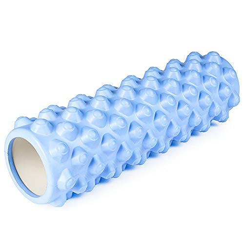 YLiansong-home Rodillo de Espuma de Fitness Columna de Yoga Ejercicio Ejercicio Fitness Productos Espuma Rodillo Muscular relajación Rodillo para el Gimnasio de casa (Color : Blue, Size : 45x14cm)