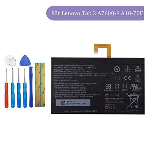 Tangzhi L14D2P31 Ersatzakku Kompatibel mit Lenovo Tab 2 A7600-F A10-70F Tab2 A10-70 A10-70L Tablet mit Toolkit