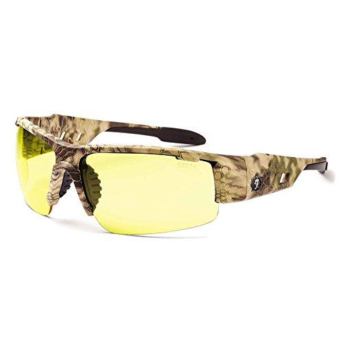Ergodyne Skullerz Dagr Safety Glasses - Kryptek Highlander Brown Camo Frame, Yellow Lens