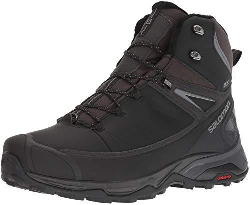 Salomon Men's X Ultra Mid CSWP Winter Snow Boots, Black/PHANTOM/Quiet Shade, 10.5