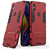 Case for Xiaomi Mi Mix 3 (6.39 inch) 2 in 1 Shockproof with Kickstand Feature Hybrid Dual Layer Armor Defender Protective Cover (Red)