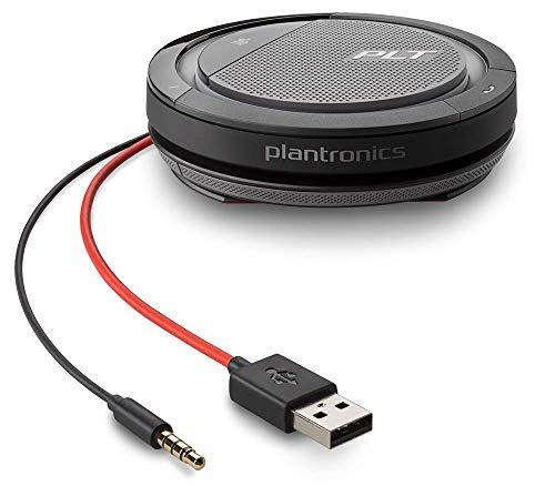 Plantronics Calisto 5200 USB-A + 3,5 mm, Konferenzgerät mit Mikrofon und Lautsprecher
