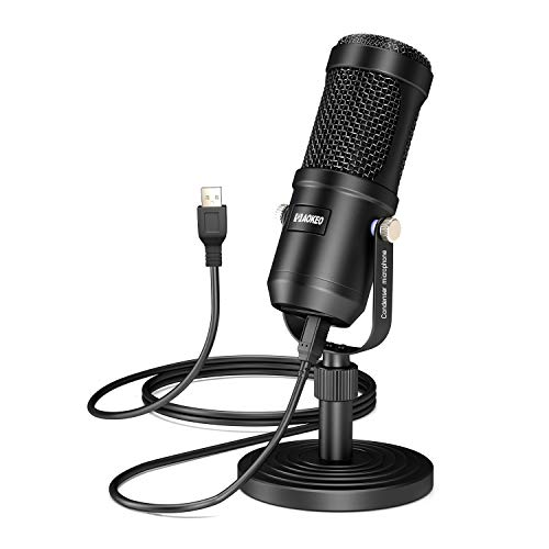USB Microphone, Aokeo Condenser Podcast Microphone for Computer. Suitable for Recording, Gaming, Desktop, Windows, Mac, YouTube, Streaming, Discord