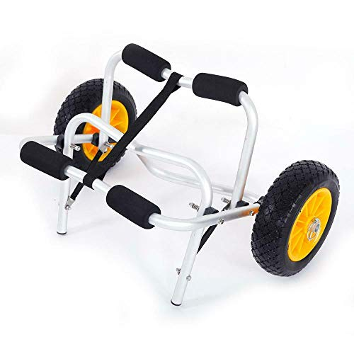 WUIIEN Carry Dolly Trailer Tote Trolley Transport Cart Wheel Fo Kayak Canoe...