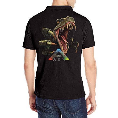 Herren Ark-Survival Evolved Logo Polo T Shirt Tee Shirts Sommer Kurzarm Black L Tshirt Für Men Baumwolle Crew Neck T-Shirt