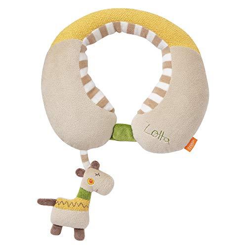 Fehn 059267 - Cojín cervical con sonajero, diseño de jirafa