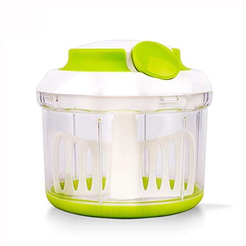 GET Groente Chopper- Voedsel Chopper Krachtige Handmatige Hand Held Mincer Mixer Blender om Groenten Groenten Noten Kruiden Uien Bevat 3 Messen