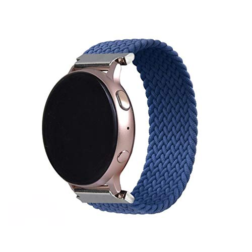 JWWLLT 2021,Latest 20 22mm Braided Solo Loop is suitable for samsung galaxy watch 46mm 42mm, For huaweigt 2 (Color : Atlantic Blue, Size : L(20mm))