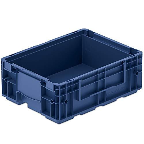 VDA-R-KLT 4315, 400 x 300 x 147 mm, Kleinladungsträger, Kunststoffbehälter, Lager- und Transportbox Industrie, 1 St, Blau