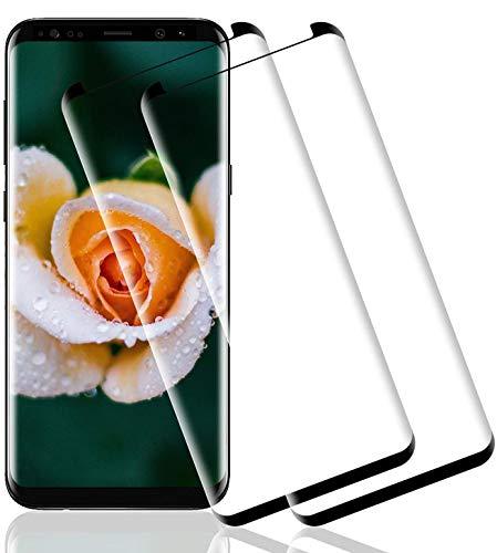 Wiestoung Protector de Pantalla de Vidrio Templado para Samsung Galaxy S8 Plus,...