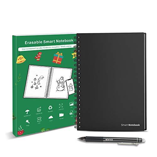 HOMESTEC Cuaderno Inteligente Reutilizable | Tamaño A5 | Hojas borrables...
