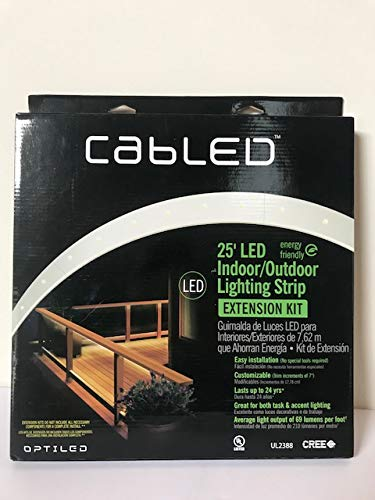 CabLED 25 ft. LED Lighting Strip Indoor/Outdoor Extension Kit