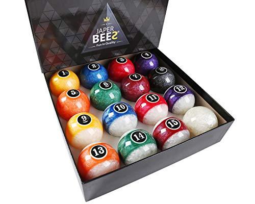 JAPER BEES Pearl-Look Trickshot Pool Balls Set Pool Table Billiard Balls