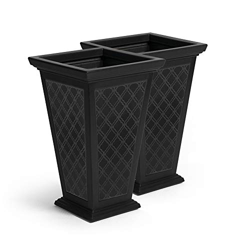FCMP Outdoor MOD-CP3000-BLK Casablanca (2 Pack) Planter, Black