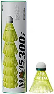 Yonex Mavis 300i Nylon Shuttlecock Pack of 6(Green/Yellow) Pack of 1