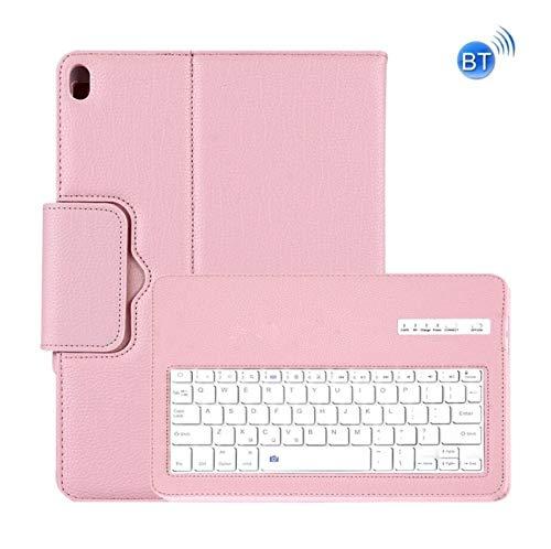 WLWLEO Bluetooth-toetsenbord, afneembaar, van leer met standfunctie voor de iPad PRO 11 inch (2018)