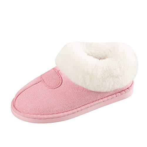 Buy Discount Meigeanfang Women's Mens Couples Plush Thicken Warm Slip-On Cozy Floor Slippers Indoor ...