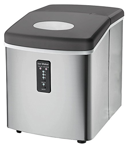Ice Machine - Portable, Counter Top Ice Maker Machine TG22 - Produces 26 lbs Of Ice Per 24 Hours - Stainless Steel - Top...