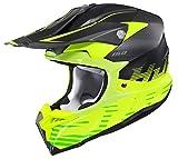 HJC i 50 Fury Off Road Motorcycle Helmet (MC-3HSF Hi-Viz Yellow/Black Semi-Flat, Medium)