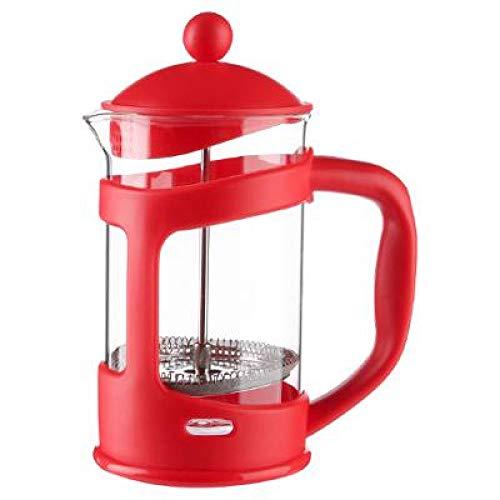amara-global Cafetière à Piston XL 0,8 l Rouge